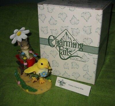 Charming Tails Chickie Chariot Ride W/box 88/100  Fitz & Floyd