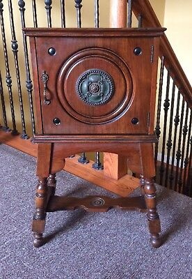 Beautiful Antique Vintage 1928 Ferguson Brothers Standing Humidor Smoking Stand