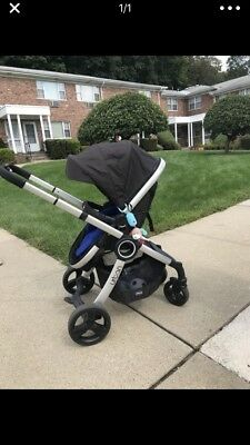 Chicco Urban Stroller with Blue color cover and car seat adapter
