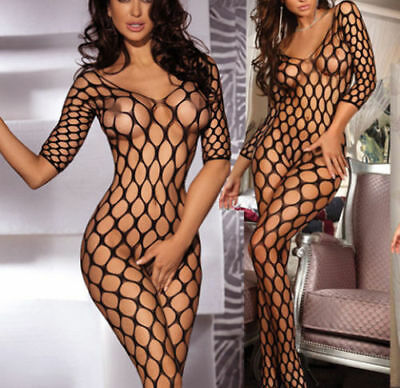 Full Body Stockings for Women Opaque Catsuit Fishnet Crotchless Bodystockings