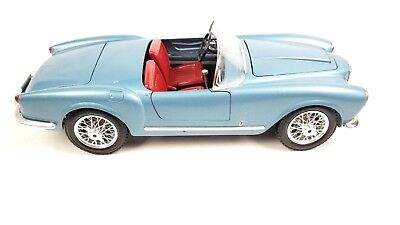 Burago Lancia Aurelia B24 Spider Light Blue 1:18 Diecast Collectible Model Car
