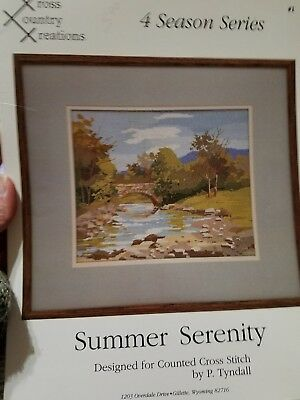 Summer Serenity counted cross stitch pattern