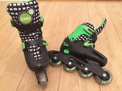 Children's Adjustable Inline Roller Blades ZINC size 13 - 3 uk Space Invaders