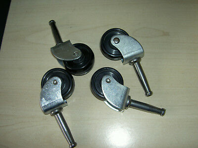 Set of 4 small swivel caster wheels for furniture