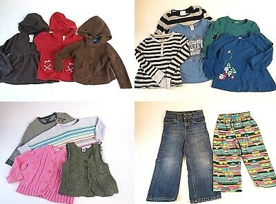 34 Pc Girls Winter Fall Clothing Play Clothes Lot 4T 4 5 5T 6 6X Top Pants skirt