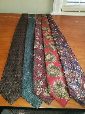 Tie Lot Preowned BILL BLASS BERT PULITZER HICKERY FREEMAN A9