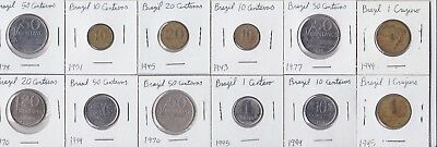 12 coins from Brazil