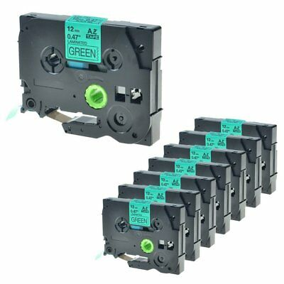 8 Pack TZ-731 Black on Green Label Tape TZe-731 For Brother P-touch PT-2730 12mm