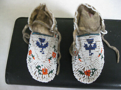 Infant Cheyenne Pictorial and Ceremonial Moccasins