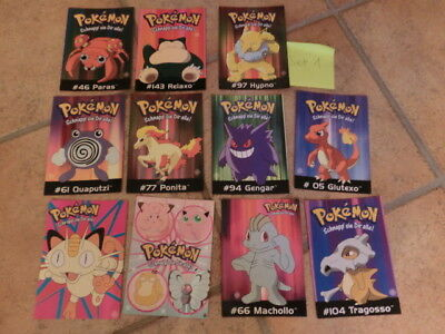 Pokemon Postkarten Neu 11 Stk Set 1