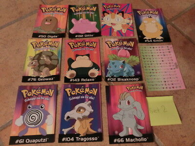 Pokemon Postkarten Neu 11 Stk Set 2