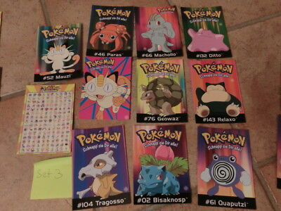 Pokemon Postkarten Neu 11 Stk Set 3