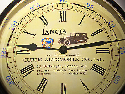 Lancia Lambda Vintage Style Car Dealers Clock, Curtis, Piccadilly London 1920's