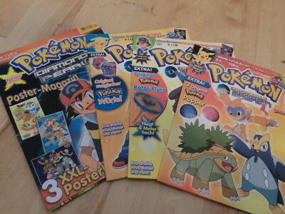 Pokemon 4 Stk. Magazine Poster