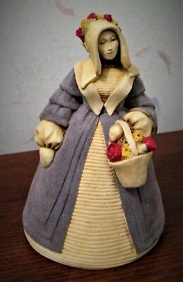 "Rare Vintage ""marty Sculpture"" Lady Bell Created By Martha Carey"