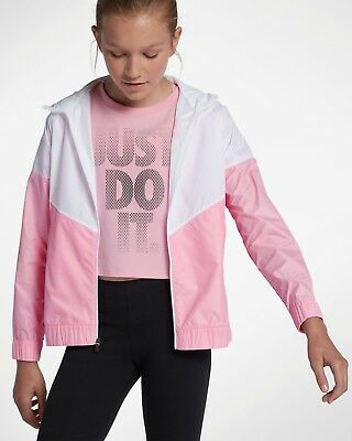 dd204df22 Nike Big Kids Sportswear Windrunner Jacket Pink,White Aa1343-102 Girls Large