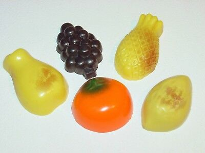 Vintage 5 Fruit Refrigerator Magnets