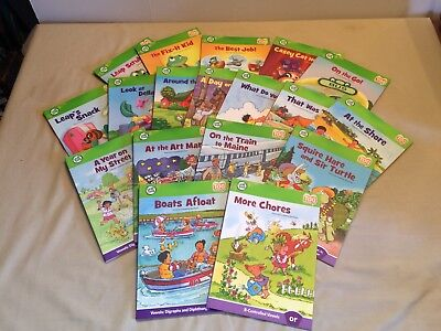 Leap Frog Tag Books Lot of 18, Consonant Digraphs, Some Vowels, Beginning Blends