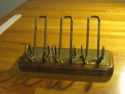 Vintage Park Sherman Tobacco Smoking Walnut Pipe Rest Stand Holder for 3 Pipes