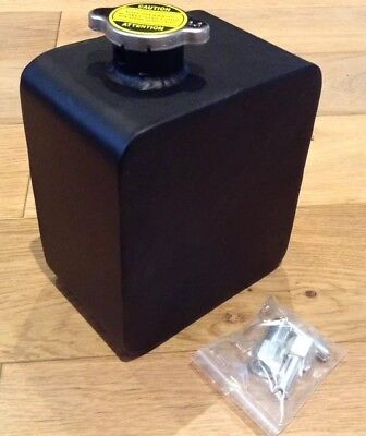 2L Coolant Expansion Tank Water Tank Reservoir Overflow BLACK - UK Quick Post!