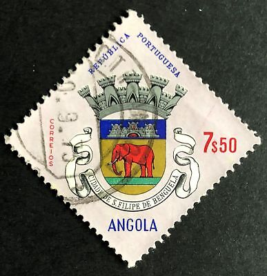 7e50 St Phiilp Civic Arms 1968 Used Angola Stamp for Sale