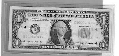 2009  ONE DOLLAR STAR NOTES ? 1 STAR REPLACEMENT NOTE Circulated Uncirculated