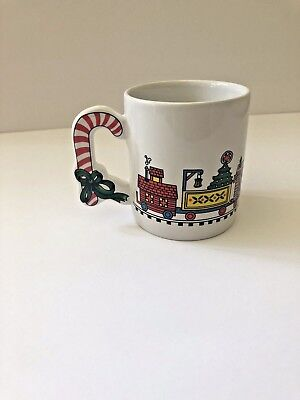 Vintage 1989 The Love Mug Christmas Train Coffee Hot Chocolate Mug Cup