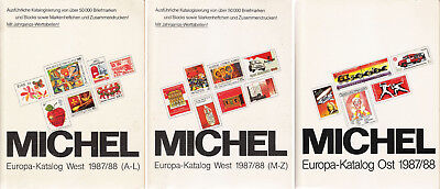 Michel Briefmarken Katalog Europa West + Ost komplett in 3 Bänden