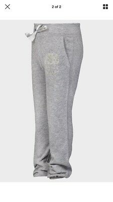 NEW Girls 6 Years Light Grey Sparkly Designer Joggers/jogging Bottoms Hunt Kids