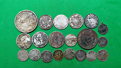 Fire Sale 20 World Foreign U.S. Junk Damaged Silver Coins 105 grams Scrap Cull !