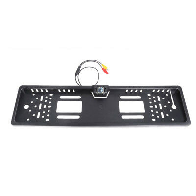 Night Visible 12 LED Car Rear View camera EU License Plate Frame Back Up Ca T5C8