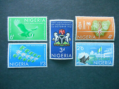Nigeria 1961 1st Anniversary of Independence SG 106-110 MNH set (see photos)