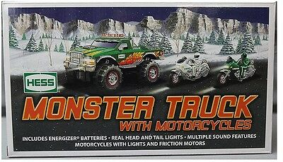 2007 HESS Monster Truck w/ Motorcycles MINT! MINT! MINT! Case Fresh Gift Quality