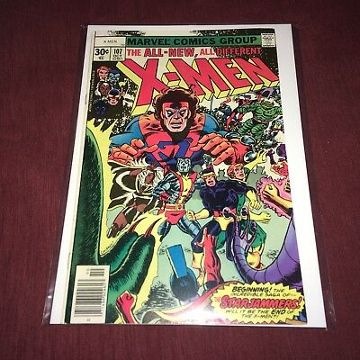 X-Men #107 (1977) New Marvel Collection Beautiful Condition Bronze Age