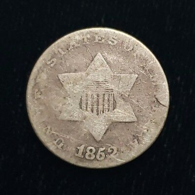 1852 US 3 Cent Silver Piece Civil War Nice Collector Coin ^TCP6263