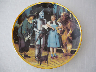 Hamilton Collection Plate Wizard of Oz We're Off to See the Wizard 1988