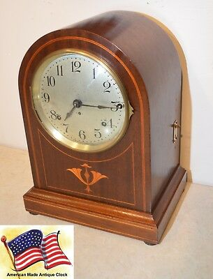 Seth Thomas Fully Restored Antique Westminster Chime Clock 61-1921 In Mahogany