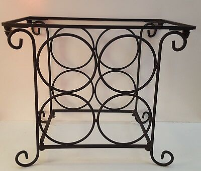 Rustic Black Metal wine rack