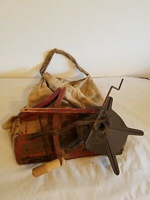 Antique Seed Spreader Planter and Plow Attachments Vintage Rustic Decor