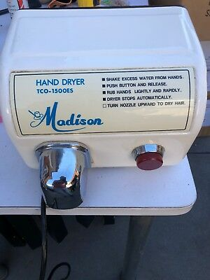 ENAMEL White Hand Dryer...working perfect..
