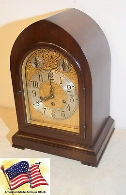 Seth Thomas Fully Restored Antique Westminster Chime Clock 72-1921 In Mahogany
