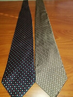 Villa Bugatti Necktie Lot of 2 Mens Colorful Neck Ties