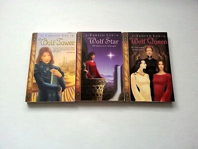 Lot of 3 TANITH LEE Pb Books - WOLF Series 1-3 QUEEN Tower STAR - FREE SHIPPING