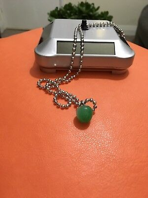 Chinese Jade Pendant Of A Green Apple