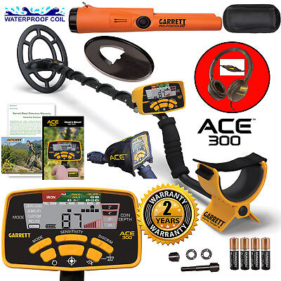 -20$ Garrett ACE300 Metal Detector with Waterproof Search Coil and Pro-PointerAT