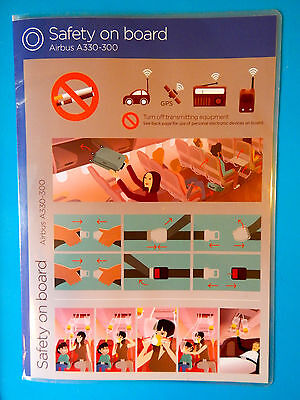 2014 Virgin Atlantic Airlines Safety Card--Airbus 330-300