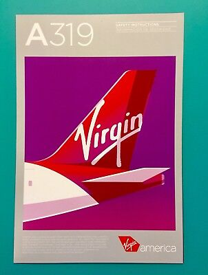 Virgin America Safety Card--Airbus 319-- Rev #3