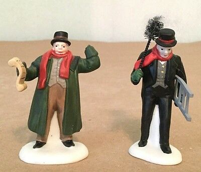 DEPT. 56 HERITAGE VILLAGE TOWN CRIER AND CHIMNEY SWEEP 2pc #56.55697 FREE SHIP