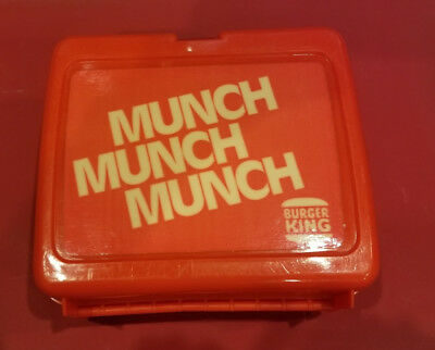 Nice Vintage Burger King Munch Munch Munch Lunchbox with Thermos - rare.