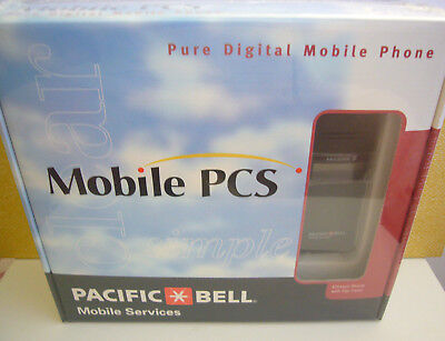 Vintage Pacific Bell Pure Digital PCS Mobile Ericsson Phone Flip Cover New In BX